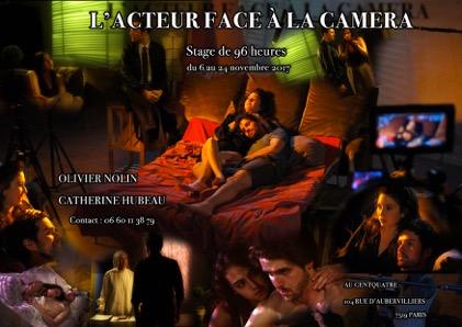 """Stage """"l'Acteur face à la caméra"""" 2017 Affiche"""